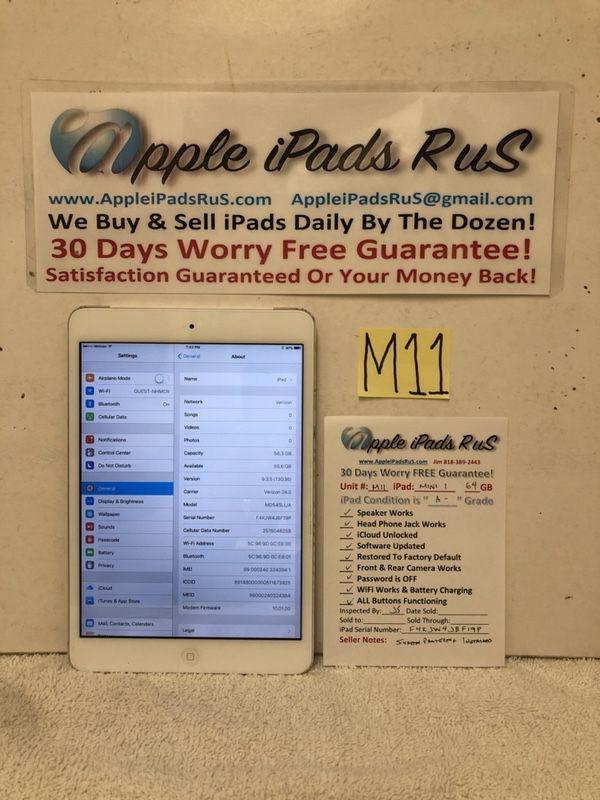 M11 - iPad mini 1 64GB Cell-VZ