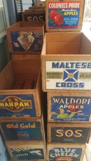 Vintage fruit crates