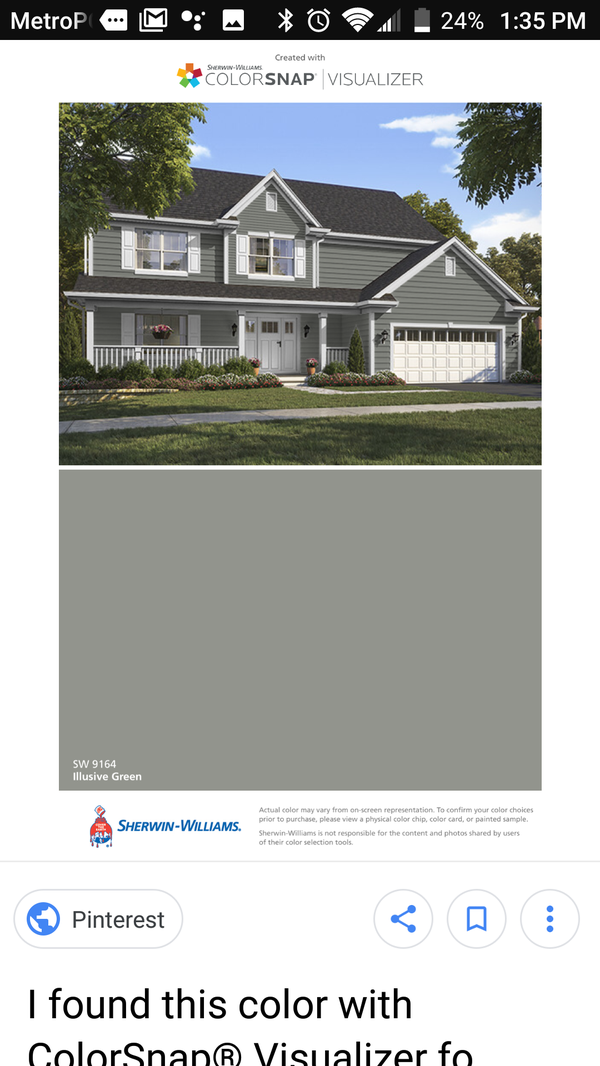 Sherwin Williams exterior paint and primer illusive green (General ...