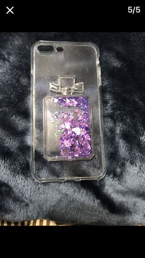 Clear Iphone 7 Plus Case With Liquid Gel Crystals Hearts