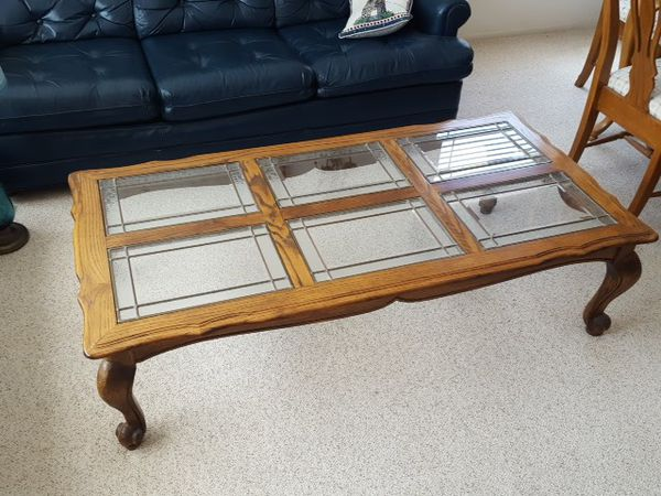 Coffee table, end table, entertainment center: from Oak and Brass ...