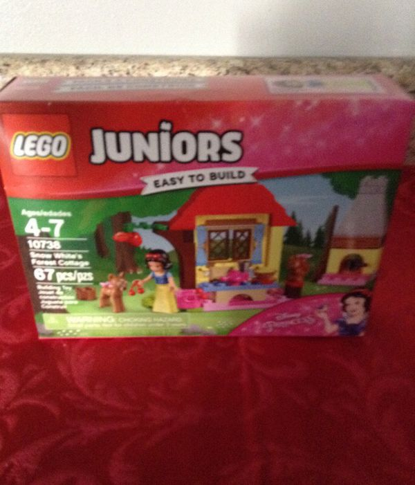 Brand new. Legos!! Ages 4-7. Snow whites Forrest cottage cost $14.99 ...
