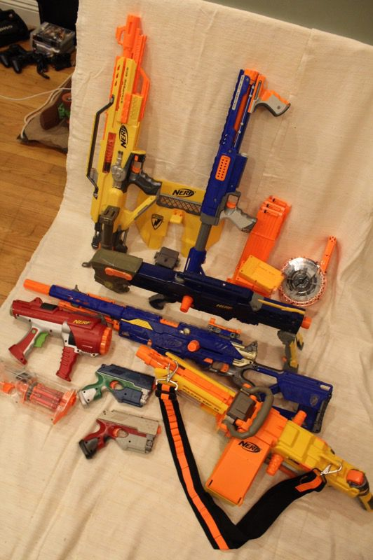 Huge Nerf Gun LetGo Lot Sale (Modded Guns, N-Strike, Dart Tag, Lots of  Darts) (Games & Toys) in Downey, CA