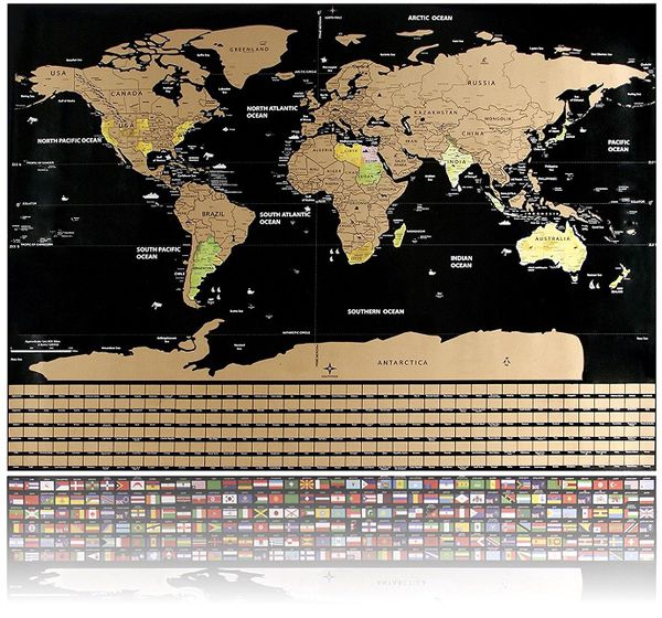 Scratch off world map poster travel map by officreative 325 x scratch off world map poster travel map by officreative 325 x 235 inches travel map with compass magnifier scratcher pins emotion memor arts gumiabroncs Gallery