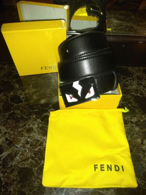 Black Fendi belt
