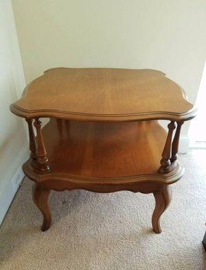 Double Top Oak Table