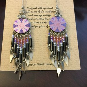 Western style earring long / Colors of the Southwest 🤠