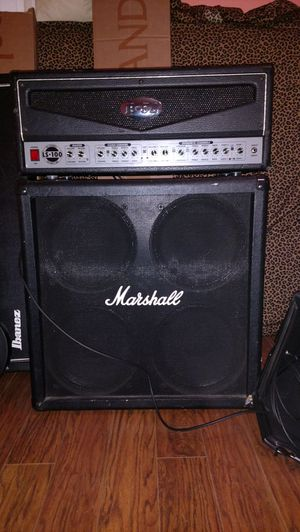 B-52 LS100 3 channel head and Marshall 4x12 cabinet