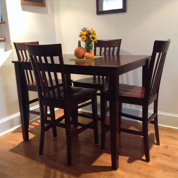 Counter Height Unfinished Chairs : Counter height table and chairs solid wood ( Furniture ) in ...