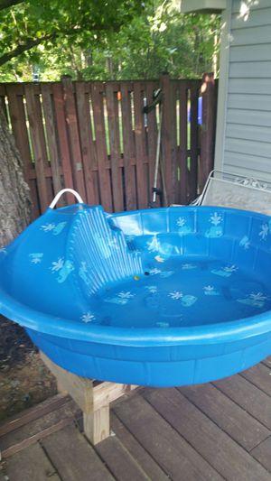 Kids pool with built in slide