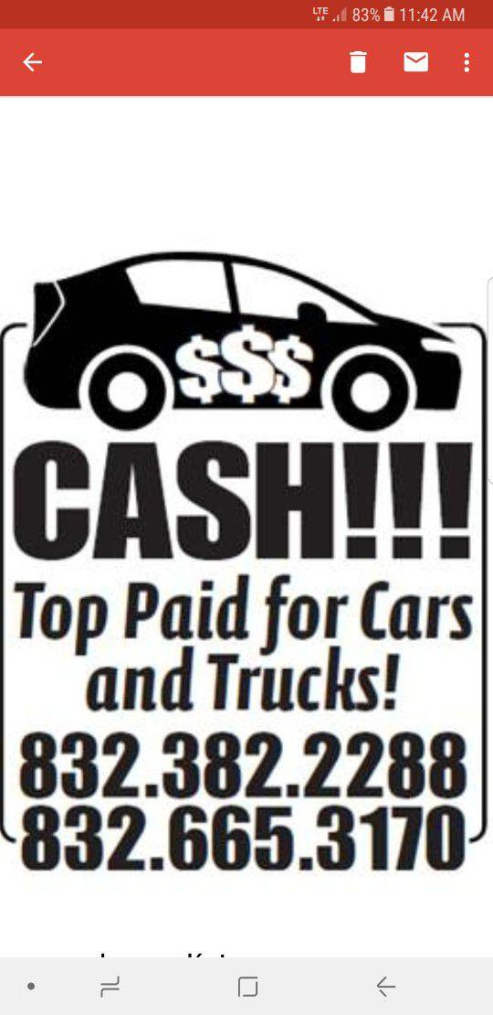 We buy your car, truck, van, RV cash (Campers & RVs) in Pasadena, TX