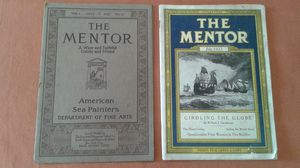 Mentor Magazine 2 Issues 1913 and 1922