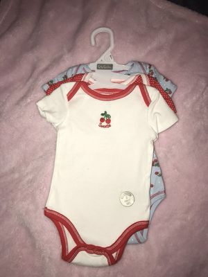 Cherry Onsies (3 Pack Set) 3-6 Months