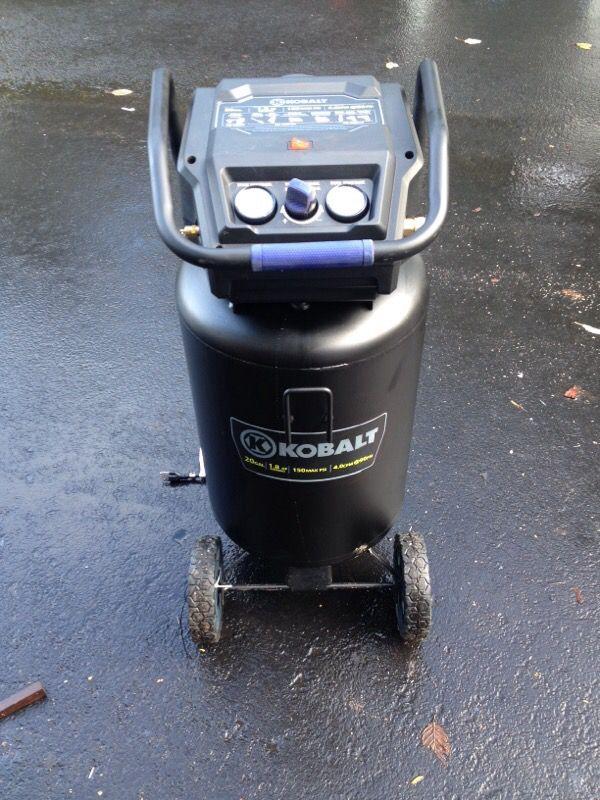Kobalt 20 Gallon Air Compressor 1 8 Hp 150 Psi Tools