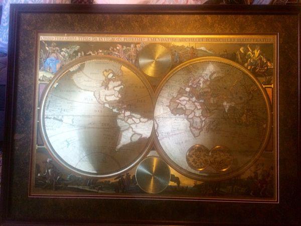 Vintage framed old world map antiques in seattle wa offerup vintage framed old world map gumiabroncs Images