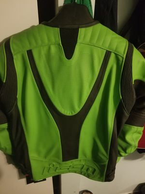ICON sport green mortorcycle armor