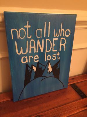 Not all who wander are lost home decor canvas