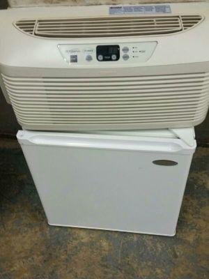AC and mini refrigerator