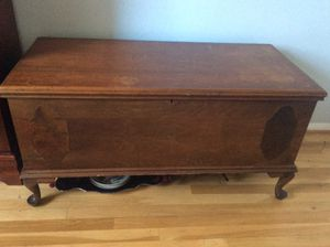 Vintage wood chest - great as a bench