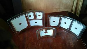 3 glass picture frames