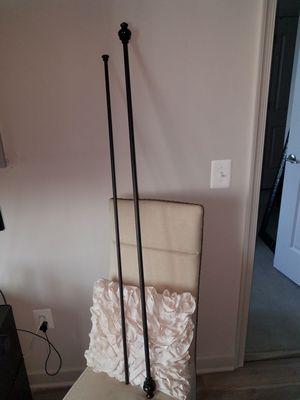 Double rod curtain rod set