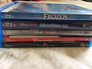 5 Disney Blu-Ray &/or DVD Movies