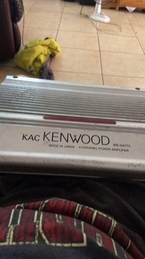 Kenwood 4channel Amp