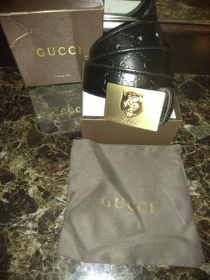 Gucci black gold buckle