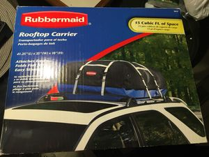 Rubbermaid rooftop carrier