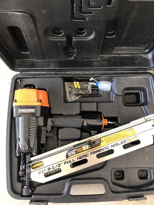 Nailgun Freeman Full Head Framing Nailer Nail Gun (Tools & Machinery ...