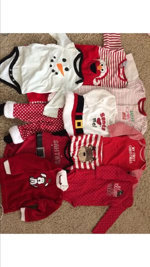 Baby girl Christmas clothes lot size 9 month