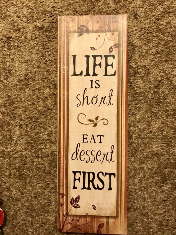 """Life is Short, Eat Dessert First"""" Kitchen Wall Decor (Household) in ..."""