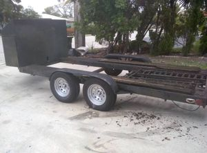 New and used car trailers for sale in deerfield beach fl offerup car trailer 14 ft tandem wheels with a power winch very good condition located in fort solutioingenieria Gallery