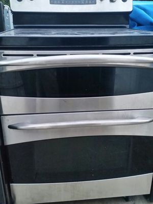 Stainless electric stove double oven