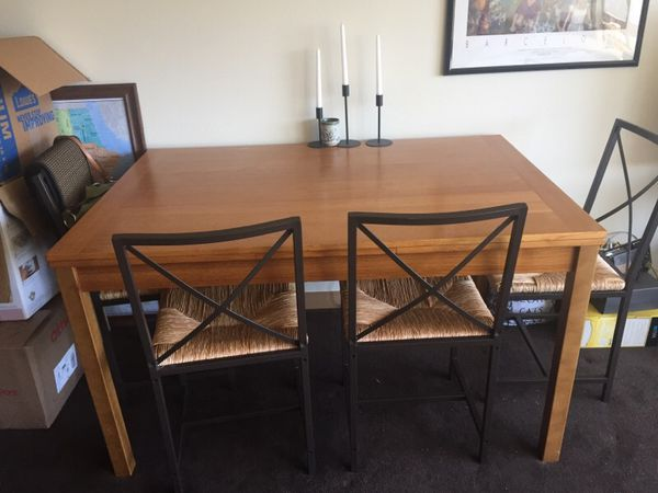 Dania Dinex Alfa Extension Table And Ikea Chairs
