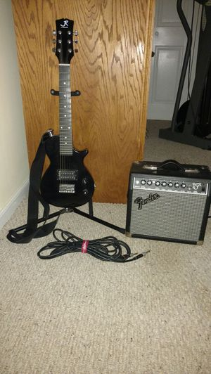 Children's electric guitar and amp