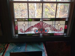 Stained glass flourish
