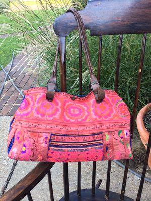 Thailand hand stitch refurbish handbag