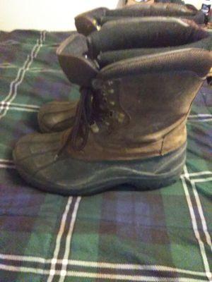 Work boots size 9-10 steel toe double sole
