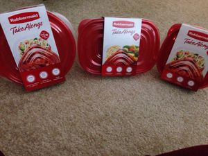 ***** 3 Sets Rubbermaid Take Alongs. Please See All The Pictures