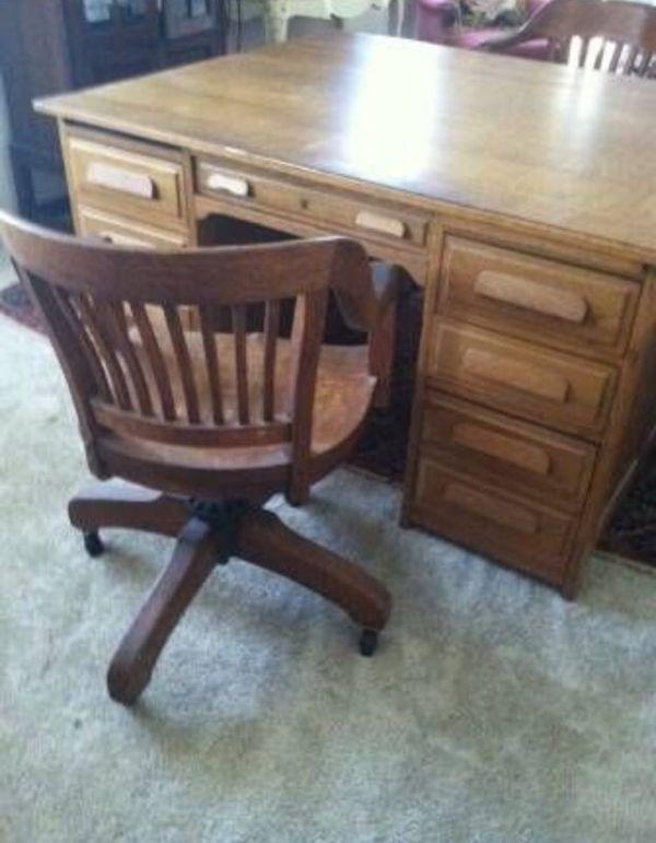 Antique Partner Desk Furniture In San Diego Ca Offerup