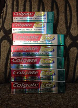 * 7 Tubes of Colgate toothpaste. Please See All The Pictures and Read the description
