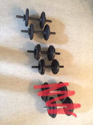 2 sets Adjustable dumbbells