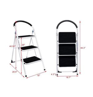 3 Steps Ladder Folding Step Stool -NEW