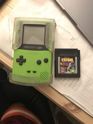 Game Boy Color Green w/ game