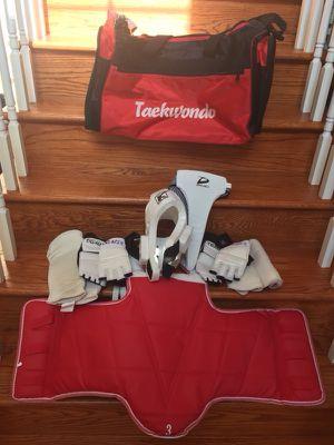 Taekwondo Sparing gear. Size small 4 & 5 with bag.