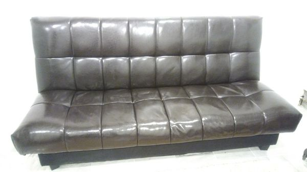 Leather convertible futon bed with storage Furniture in