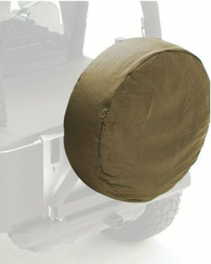 Smittybilt 773536 Khaki Diamond Large Spare Tire Cover Jeep Wrangler