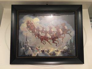 Framed Santa/Christmas Eve Picture