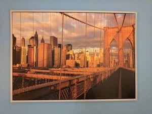 Brooklyn Bridge Aluminium framed Picture